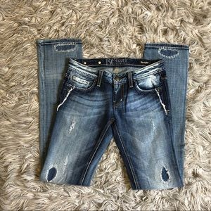 Distressed Ripped, ReRock For Express, Ombré Jeans